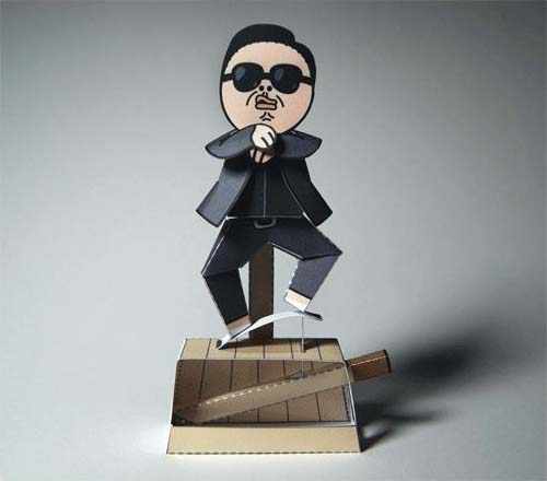 Gangnam Style Paper Craft