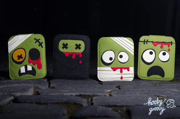 Handmade Zombie Themed iPad Case