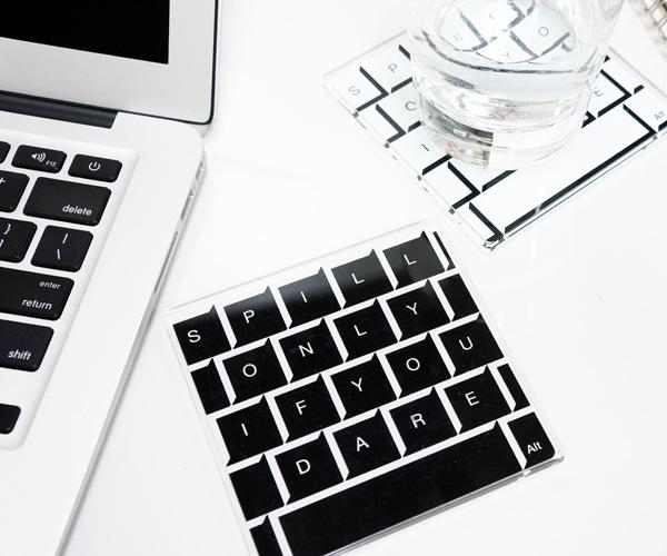 Keyboard Styled Coaster Set