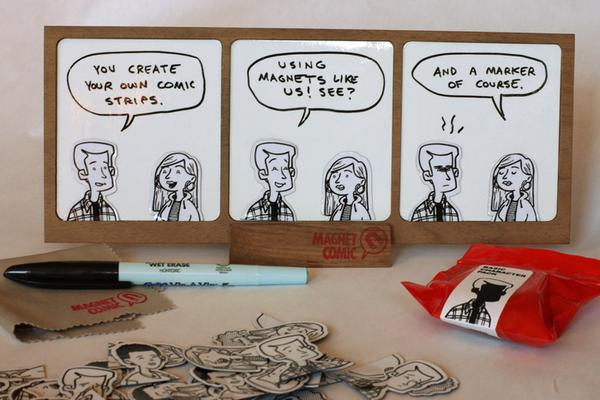 Magnet Comic Customizable Dry-Erase Comic Strip