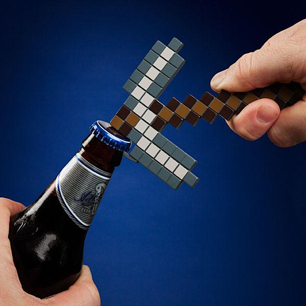 Minecraft Pickaxe Shaped Bottle Opener