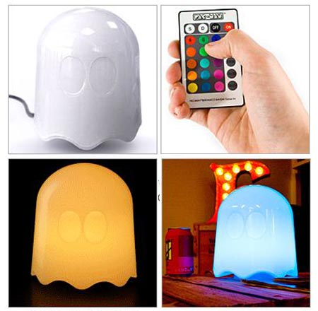 Remote Controlled Pac-Man Ghost Lamp