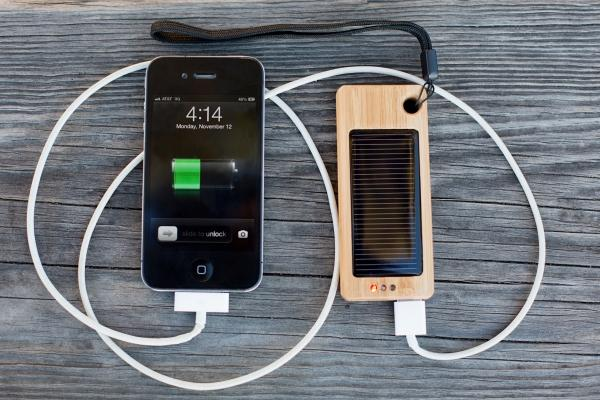 The Bamboo Backup Battery with Solar Panel