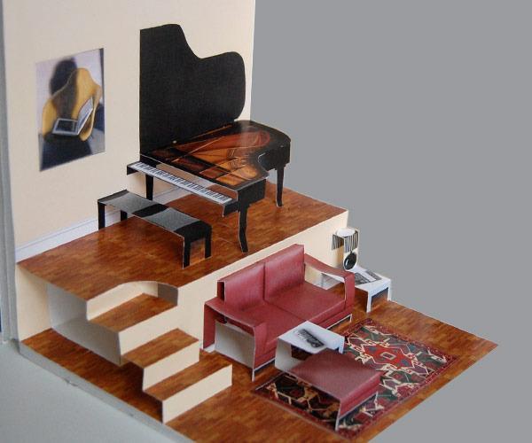 the pop up paper house gadgetsin. Black Bedroom Furniture Sets. Home Design Ideas