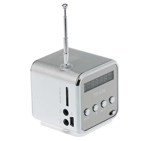 The Portable Speaker with Card Reader and FM Radio