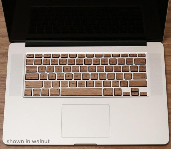Lazerwood MacBook Pro Wood Keyboard Skin Set