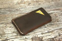 The Handmade Leather iPhone 5 Case with Card Holder