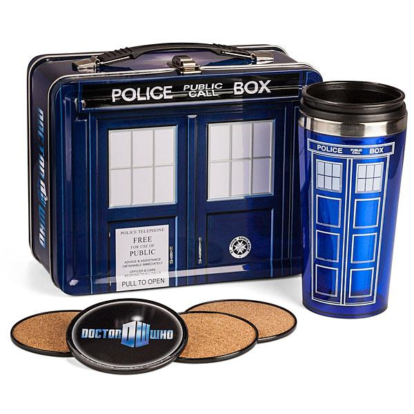 Doctor Who Lunch Box with Coasters & Thermos