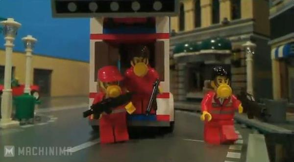 Grand Theft Auto V Game Trailer Built with LEGO Bricks