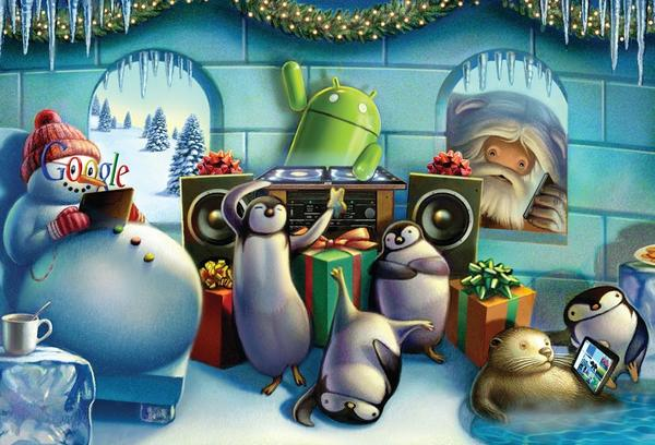 Happy Holiday Cards from Google Nexus