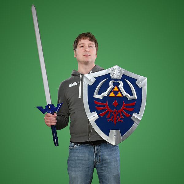 Legend of Zelda Master Sword and Hylian Shield Replicas