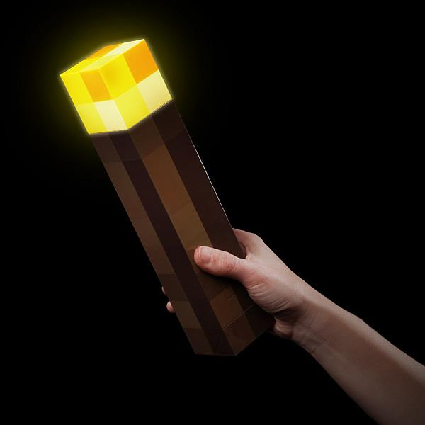 Minecraft Torch Shaped Flashlight