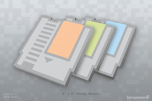 NES Cartridge Styled Post-It Notes
