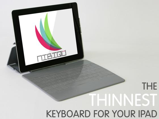 NIBIQ Ultra-Thin iPad Keyboard Case