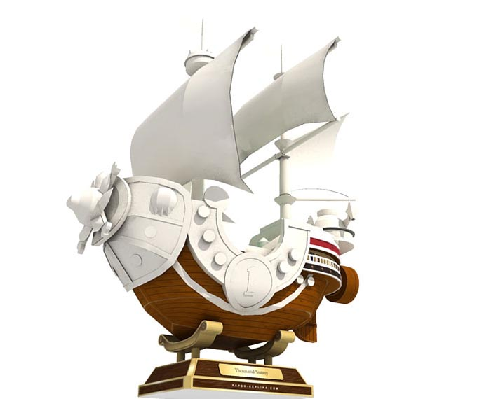 One Piece Thousand Sunny Ship Paper Craft