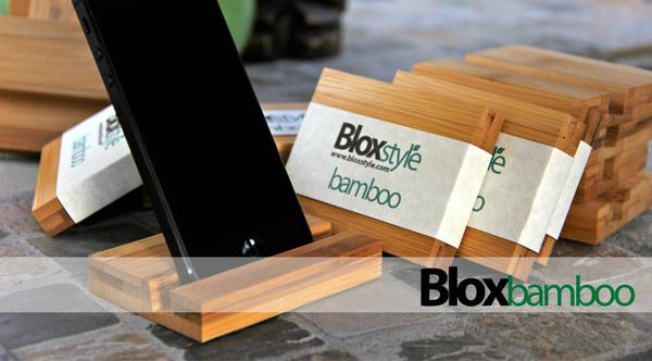 The Handmade Bamboo iPhone Stand