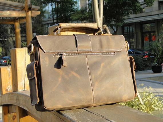 The Handmade Vintage Leather Messenger Bag