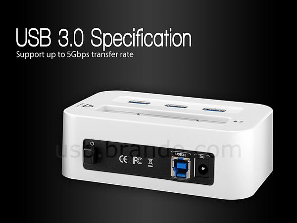 The USB 3.0 HDD Docking Station with USB Hub