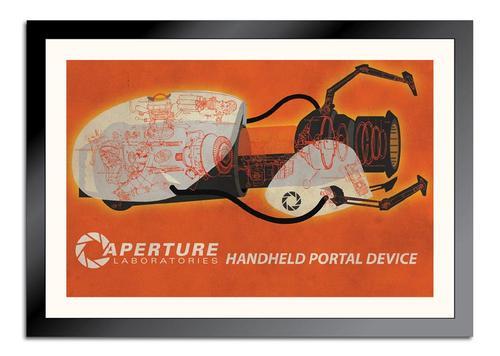 Portal Gun Schematic Poster
