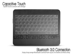 The Ultra Slim Bluetooth Keyboard for iPad and Android Tablets