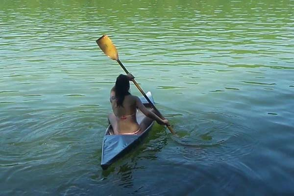 Homemade Canoe Built with Duct Tape and PVC Pipes