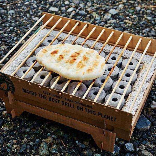 CasusGrill Biodegradable Instant Portable BBQ Grill