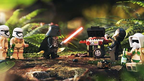LEGO Darth Vader Had Star Wars BBQ Party with Kylo and Stormtroopers