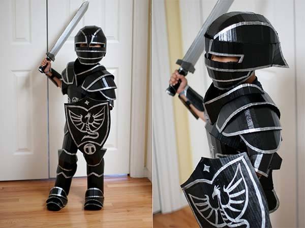 DIY Cardboard Medieval Knight Armor Suit