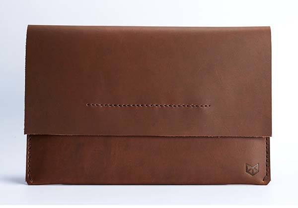 Handmade iPad Pro Leather Sleeve with Apple Pencil Holder