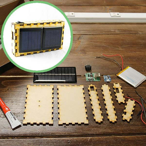 Handmade Portable USB Solar Charger Kit