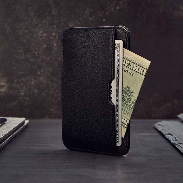 Handmade Slim Leather Wallet with RFID Blocking