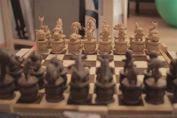 3D Printed Pokemon Chess Set