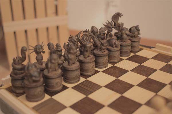 3D Printed Pokemon Chess Set