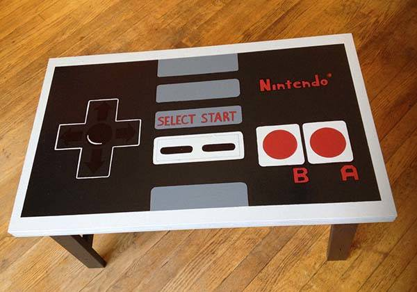 Hand Painted NES Controller Coffee Table