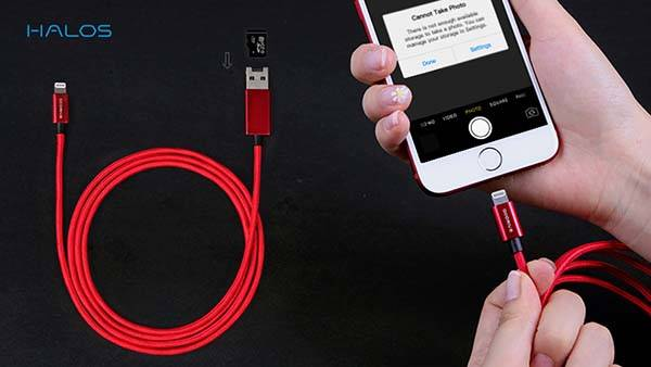 The Lightning Cable with microSD Card Reader