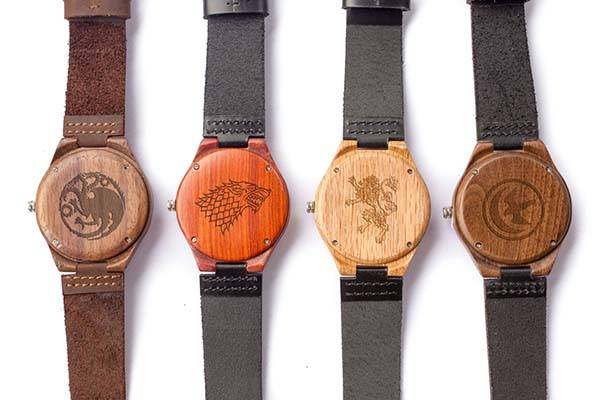 Customizable Handmade Wooden Game of Thrones Watch