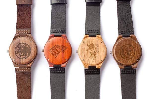 Customizable Handmade Wooden Game of Thrones Watch