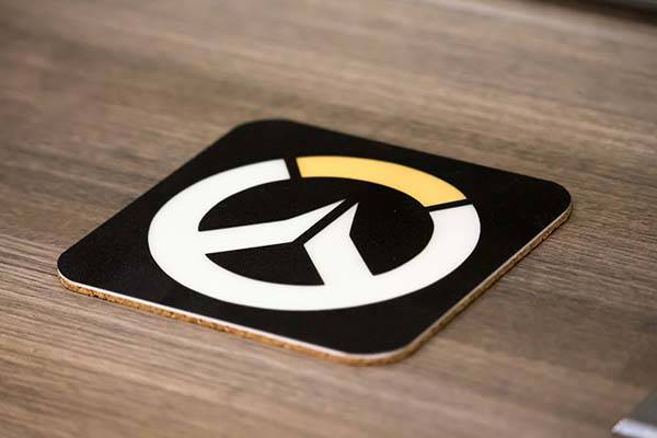 Handmade Glow-in-the-dark Overwatch Drink Coaster Set