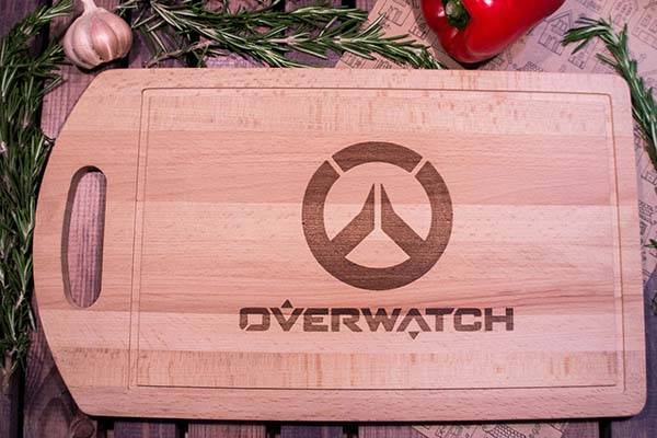 Handmade Overwatch Wood Cutting Board