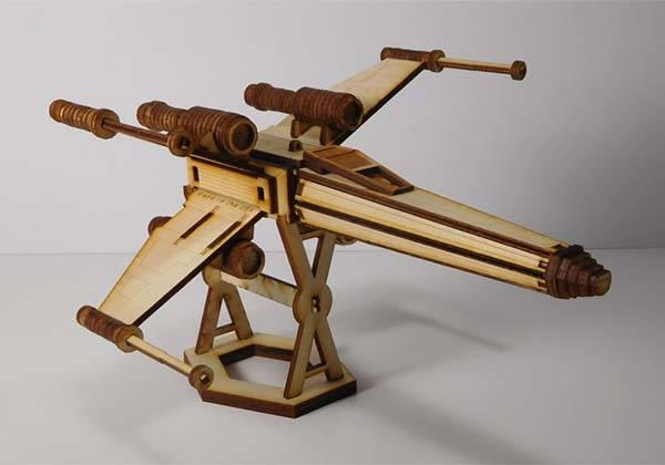 Handmade Star Wars Laser Cut Models - X-wing Starfighter