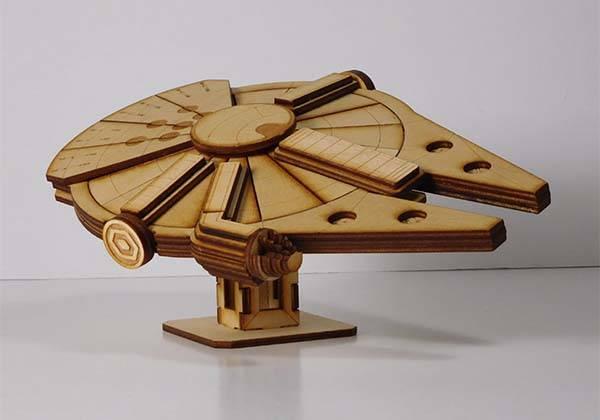 Handmade Star Wars Laser Cut Models - Millennium Falcon