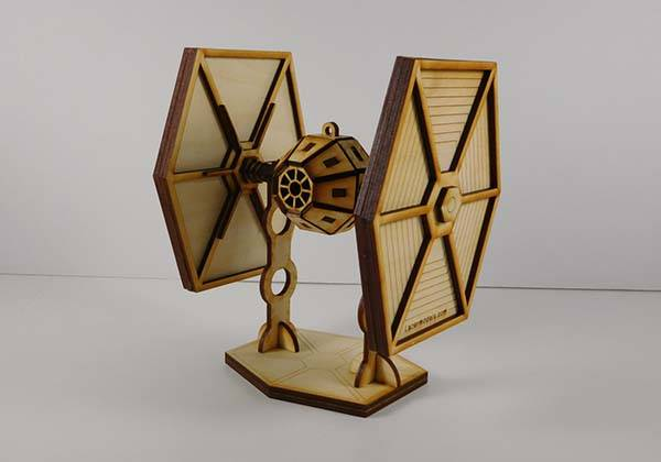 Handmade Star Wars Laser Cut Models - TIE Fighter