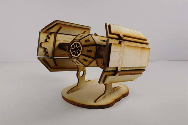 Handmade Star Wars Laser Cut Models - TIE Advanced X1