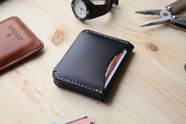 Horween Handmade Leather Wallet with Personalization