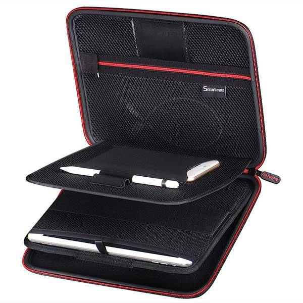 iPad Pro Carrying Case with Apple Pencil Holder and Stand