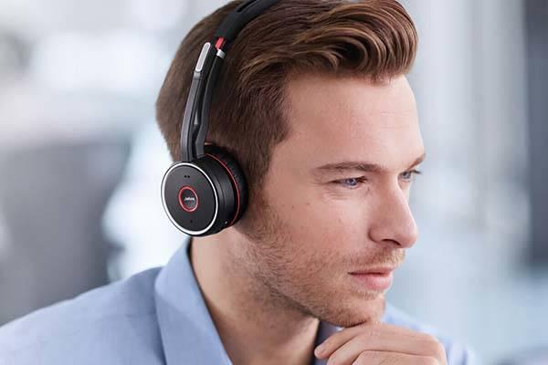 Jabra Evolve 75 ANC Wireless Headphones with Dual Bluetooth