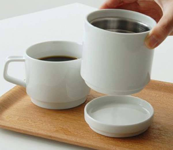 Kinto Faro Ceramic Coffee Dripper and Thermo Mug
