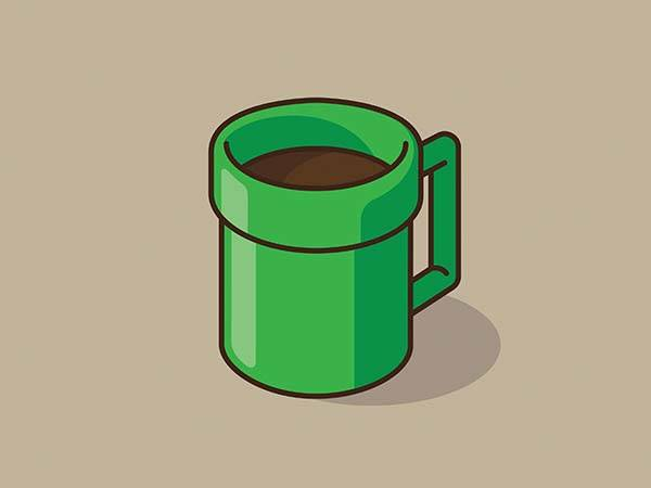 Pop Culture Coffee Mug Mashups - Pipe in Mashroom Kingdom