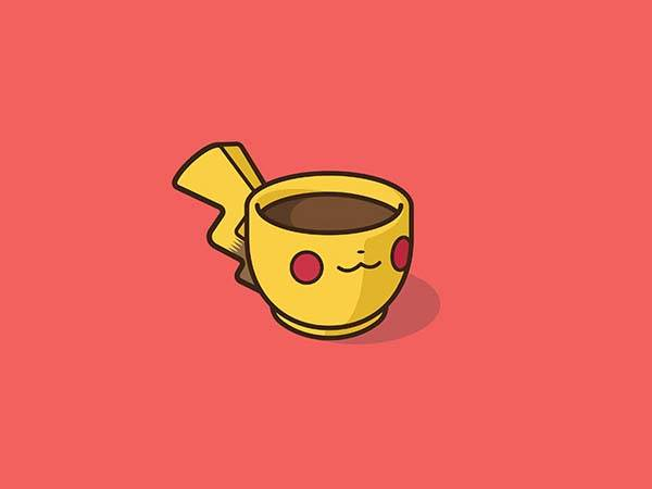 Pop Culture Coffee Mug Mashups - Pikachu