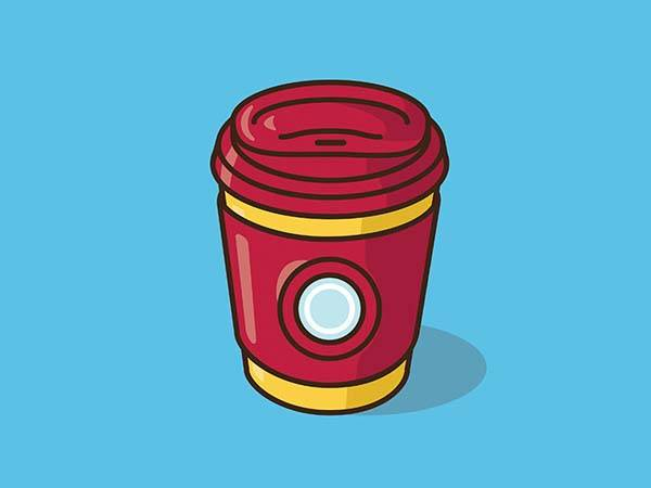 Pop Culture Coffee Mug Mashups - Iron Man
